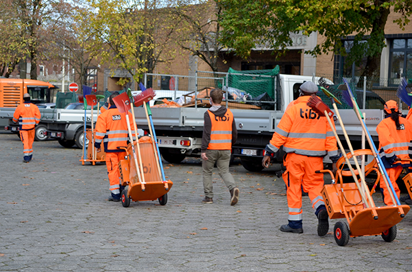 Tibi assure la propreté publique de l'ensemble des districts de Charleroi